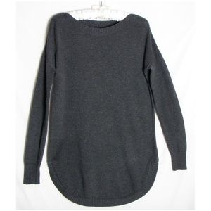 Old Navy Small Gray Sweater Boatneck Round Hem